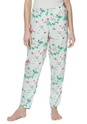F&F Floral Print Lounge Pants Mint 16-18