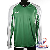 Mitre Aren DryCool Long Sleeved Football Shirt Jersey Green/White - Green & White