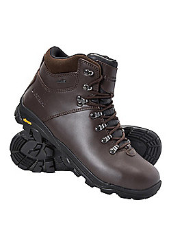 Mountain Warehouse Brecon Mens Waterproof Vibram Boots - Brown