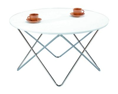 Amelia Round Coffee Table-White