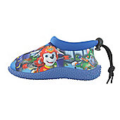 Boys Paw Patrol Blue Surf Aqua Sock Beach Swim Water Shoes UK Sizes 5-10 - Blue