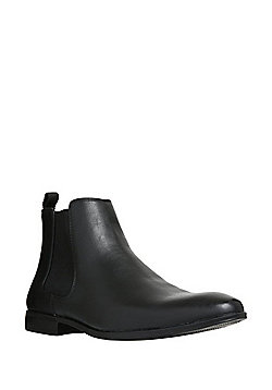 F&F Almond Toe Chelsea Boots - Black