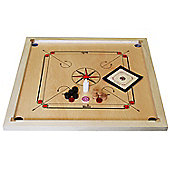 "Carrom Set - 33"" x 33"" Mango Wood Carrom Board, Coins, Striker & Carrom Powder - Made in India"