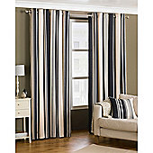 Riva Home Broadway Eyelet Curtains - Black