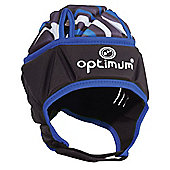 Optimum Razor Kids Rugby Headguard Scrum Cap Black/Blue - Small Boys
