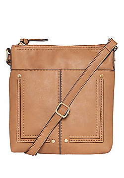 F&F Passport Cross-Body Bag Tan One Size