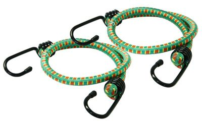 Rolson 600mm Set of 2 Green Bungee Cord