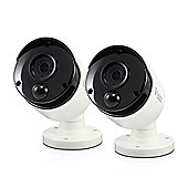 Swann PRO-T890 Super HD 5MP Thermal Sensing White Bullet Cameraa with 30m Night Vision - 2 Pack