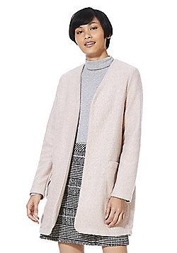 F&F Collarless Boucle Jacket - Pink