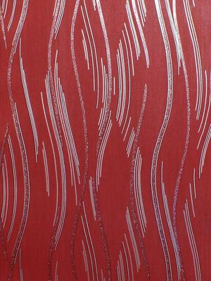 Love Your Walls Shimmer Wave Wallpaper Red J74610