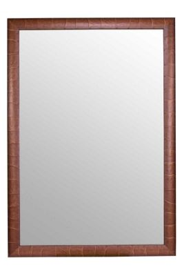 Large Teak Effect Natural Shabby Chic Wall Mirror 6Ft8 X 4Ft8, 203 X 142cm