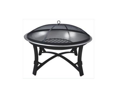 Lifestyle Prima Stainless Steel Firebowl With Matt Painted Mesh Cover & Poker