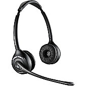 Plantronics Savi W420A Wireless DECT Stereo Headset - Over-the-head - Circumaural - Black
