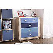 Sydney 3+2 Drawer Chest Blue