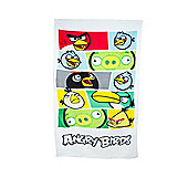 Angry Birds White Printed Beach Towel