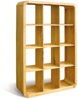 Oceans Apart Cadence Oak Living 12 Hole Shelf Unit