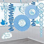 Communion Church Blue Decoration Kit - 18 pack