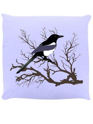Lone Magpie Cushion 40x40cm