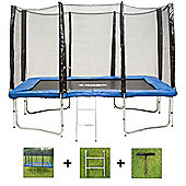 Up and About Rectangular 8x12ft Jump Easy Trampoline Package with Free Ladder, Weather Cover and Building Tool