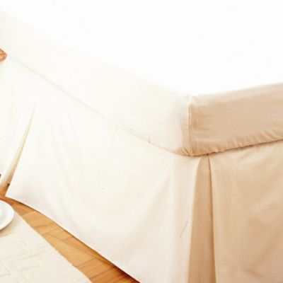 Belledorm Plain Dyed 150 Thread Count Easy Fit Valance Frill - Single - Damask in Cream