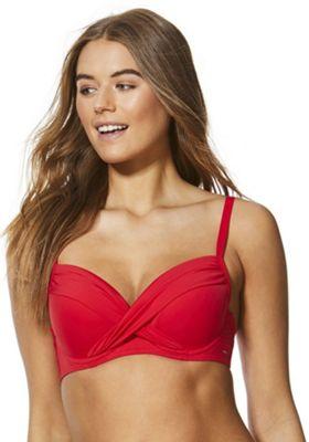 F&F Shaping Swimwear Push-Up Bikini Top Red 34 DD cup