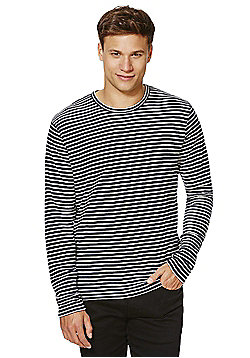 Jack & Jones Premium Striped Jumper - Navy