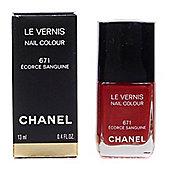Chanel Le Vernis Red Dazzle Nail Polish 671 Ecorce Sanguine