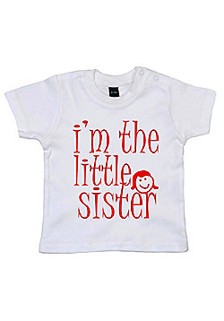 Dirty Fingers I'm the Little Sister Baby T-shirt - White