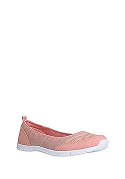 F&F Active Ballerina Slip-On Plimsolls - Pink