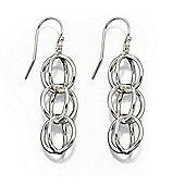 Sterling Silver Open Sphere Multi Drop Earrings