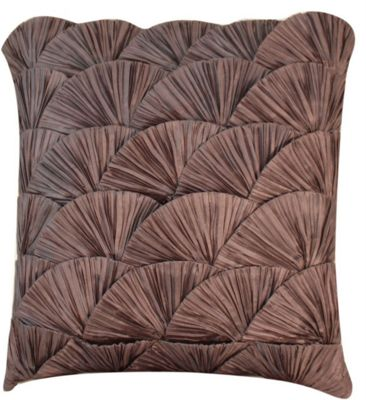 Stunning Gunmetal Ocean Shell Cushion Ruched Pattern