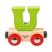 Bigjigs Rail Rail Name Letter U (Green)