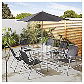 Tesco Hawaii 8 Piece Black Garden Dining Set