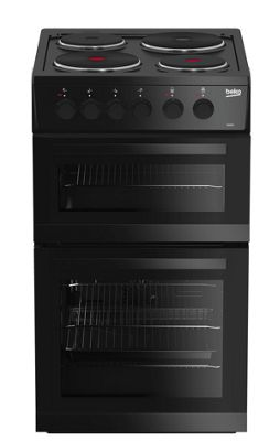 Beko Double Oven Electric Cooker, KD533AK - Black