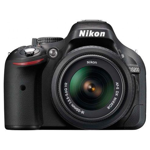 Nikon D5200 SLR 18-55mm lens kit Black