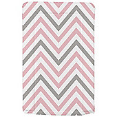 My Babiie Changing Mat (Pink Grey Chevron)