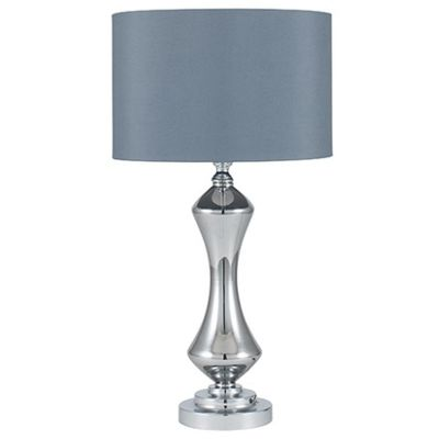 Grey Glass Table Lamp Complete