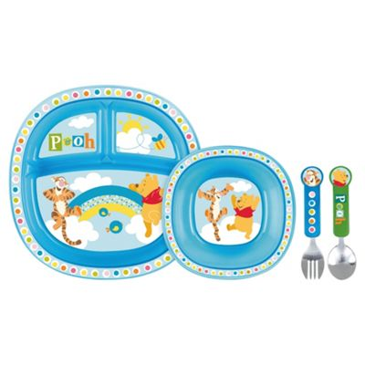 We no longer sell this product.  sc 1 st  Tesco & Buy Winnie The Pooh Blue Toddler Dining Set from our Bowls u0026 Plates ...