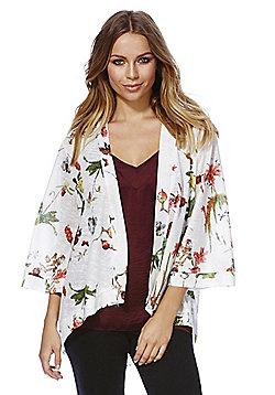 Mela London Floral Print Kimono - White