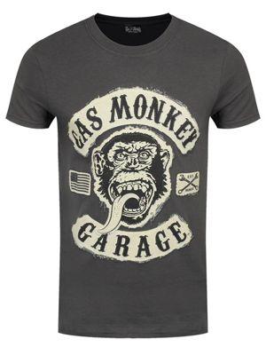 Gas Monkey Garage Patch Men's T-shirt, Dark Grey