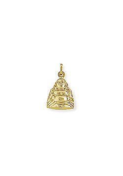 Jewelco London 9ct Yellow Gold - Buddha Charm Pendant -