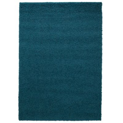 Tesco Alpine Shaggy Rug Soft Teal 80X150Cm