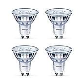 4 x Philips LED GU5.3 Glass 5 - 35w A+ MR16 Spot Light Bulb 390lm - Warm White