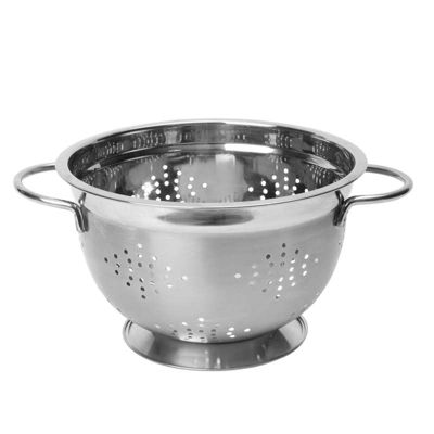 Dexam Stainless Steel Footed Colander, 26cm (10.5 Inches)