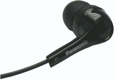 Panasonic RP-HJE130E-K In-Ear Headphones 6Hz-23kHz driver 11.5mm 100dB/mW - Black