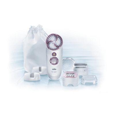 Braun Silk-épil 7 Skin Spa 7951 Wet and Dry Epilator plus Exfoliation Brush and 4 attachments