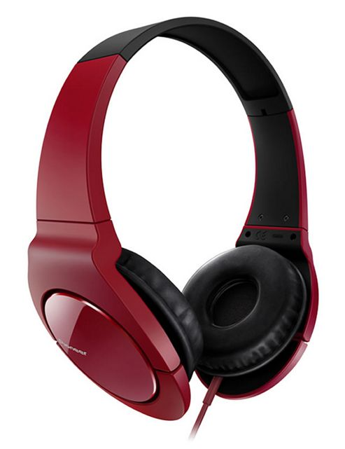 Pioneer Fully Enclosed Headphones with Swivel Red SE-MJ521-R