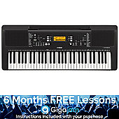 Yamaha PSRE363 Portable Keyboard – with 6 Months Free Online Music Lessons