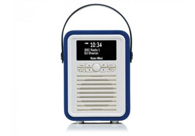 VQ Retro Mini Navy Blue DAB+/FM Bluetooth Radio