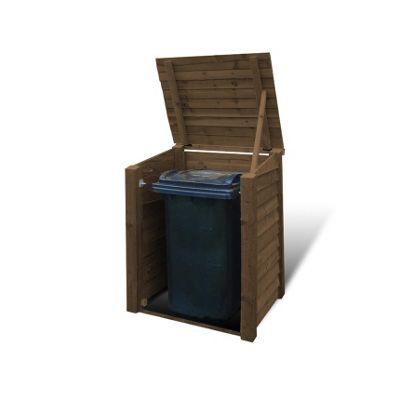 Morcott wooden single wheelie bin storage unit